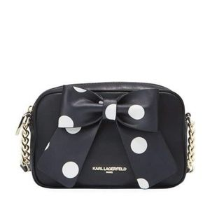Karl Lagerfeld Bow Cross Body Purse